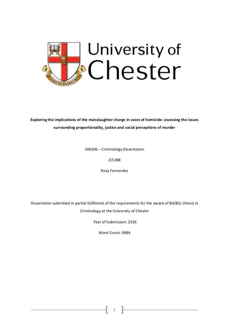 Criminology dissertation titles la dissertation