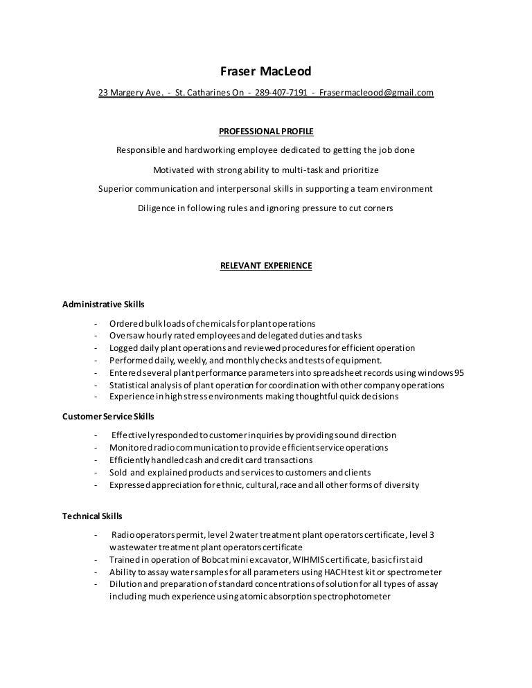 Macleod Fraser Skills Resume 2015 11 20