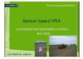 Sensor based Variable Rate Application