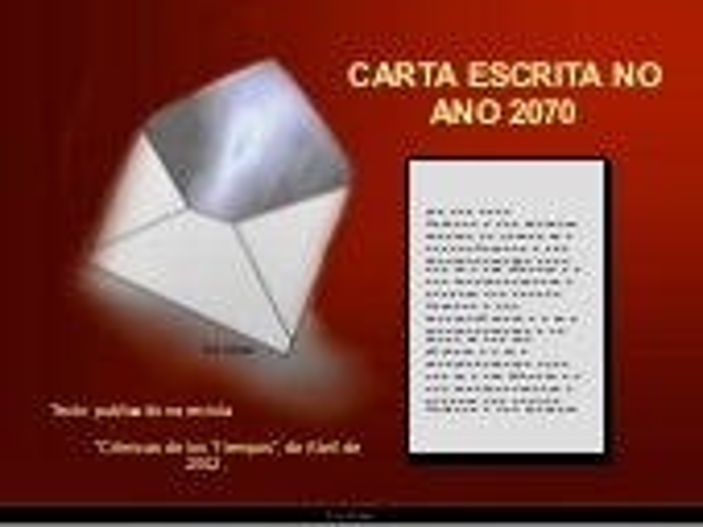 1 Carta Escrita No Ano 2070