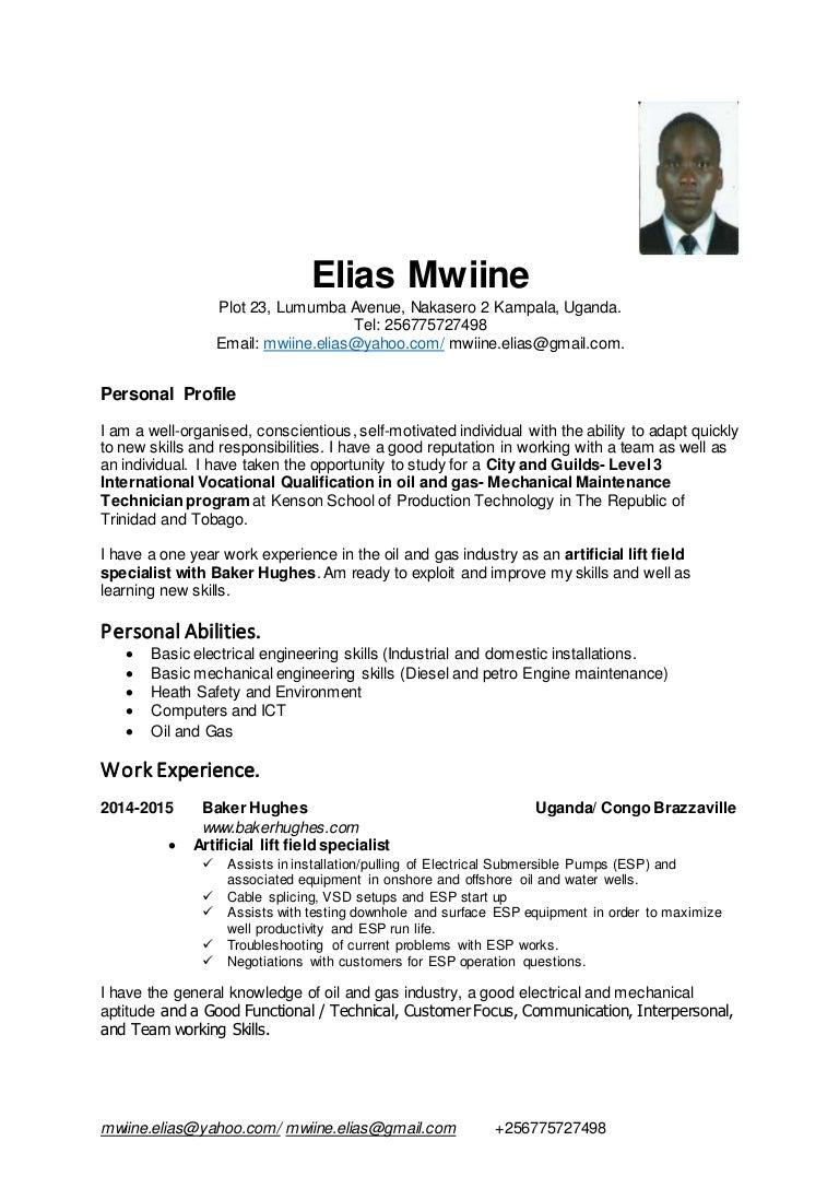 mwiine elias resume