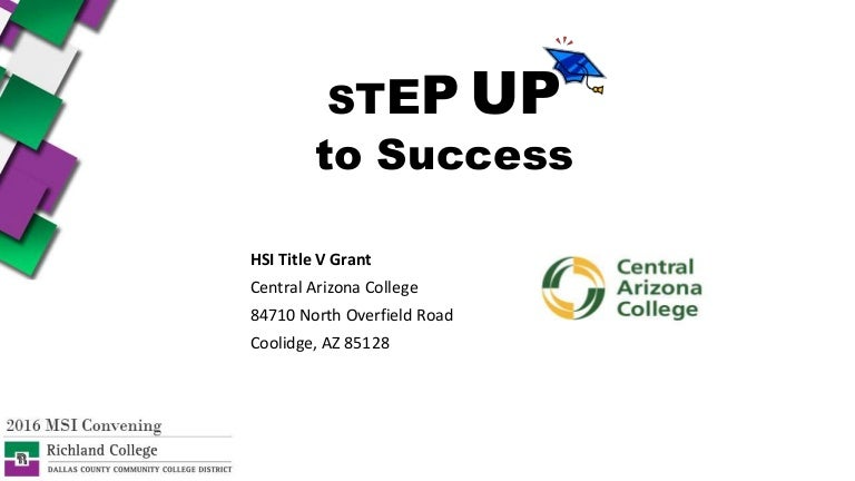 Step Up To Success Hsi Title V Grant