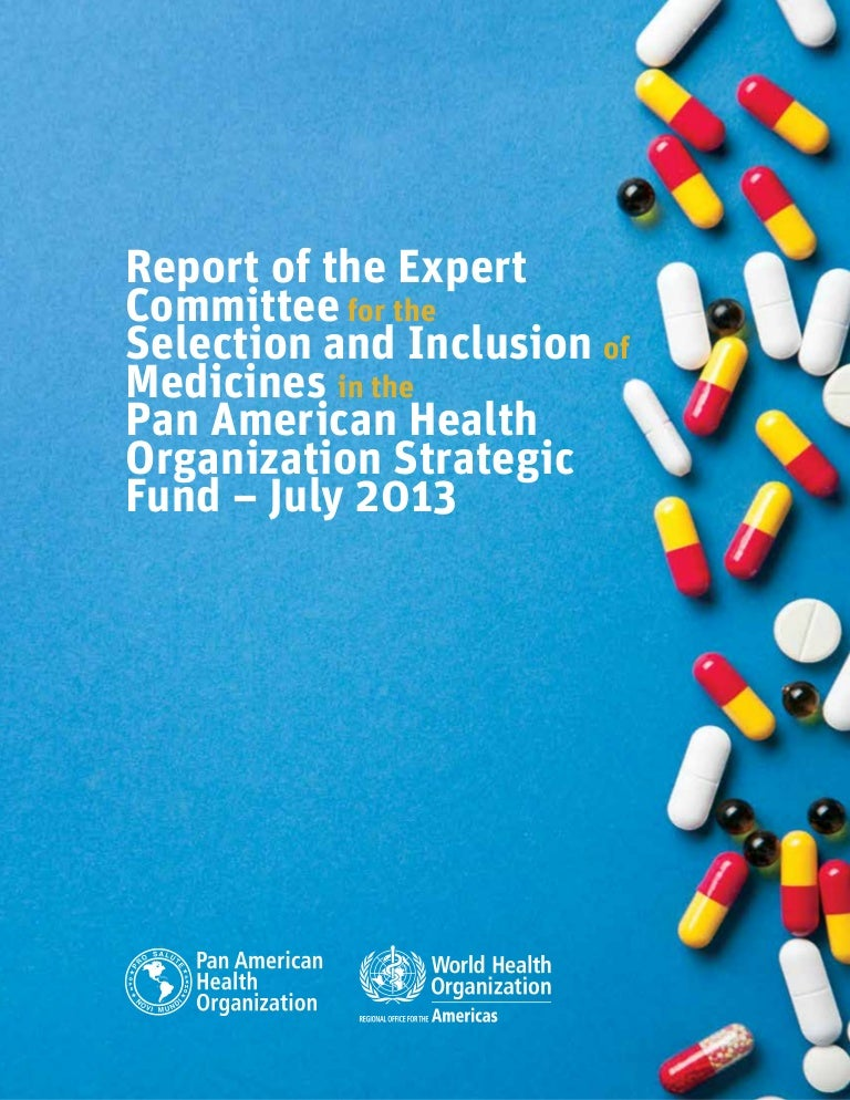 Report of the Expert Committee for the Selection and Inclusion of Med…