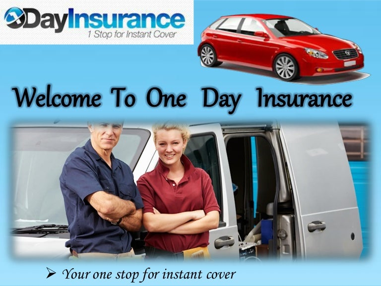Temporary Car Insurance or Van Insurance by 1 Day Car ...