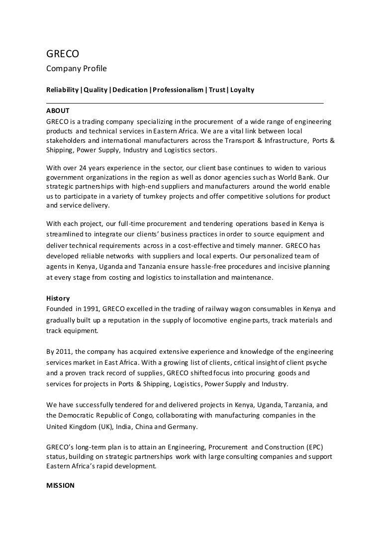 Greco International-Company Profile