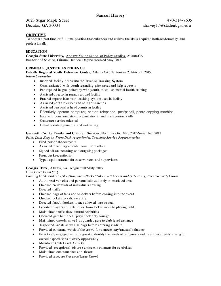 Best Internship Application Cover Letter Sample For Criminal