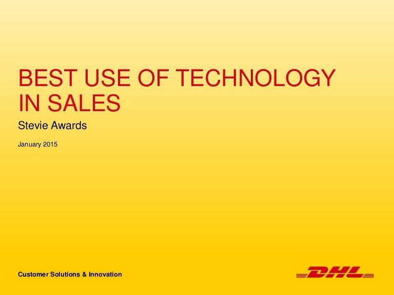 Dhl Csi Stevie Awards Best Use Of Technology In Sales