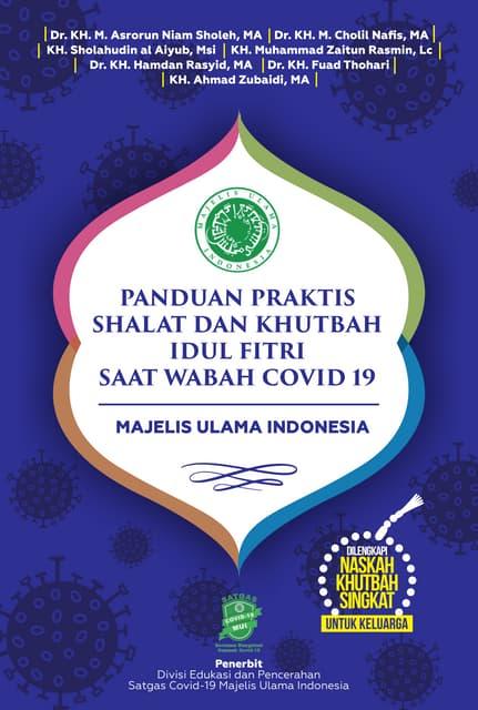 Panduan Praktis Shalat dan Khutbah Idul Fitri di Rumah