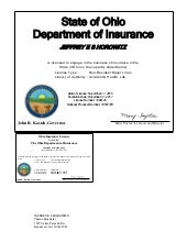 Florida Health Insurance License-letter