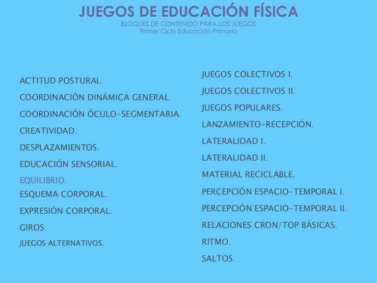 1er Ciclo Juegos De Educacion Fisica