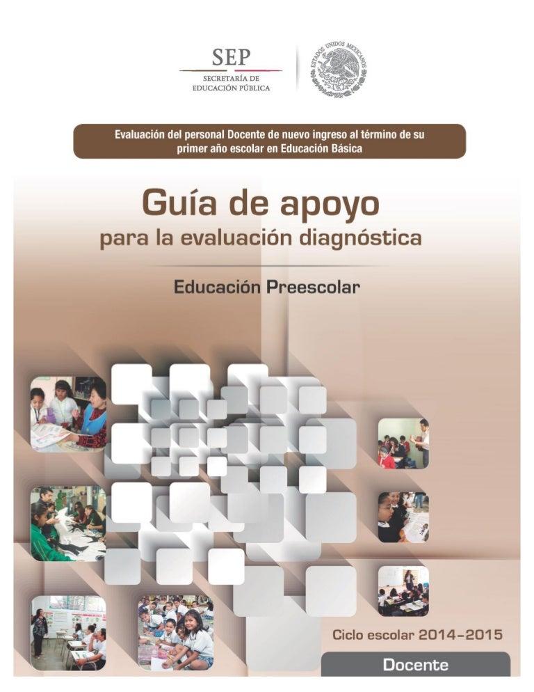 EVALUACION DIAGNOSTICA PREESCOLAR GUIA