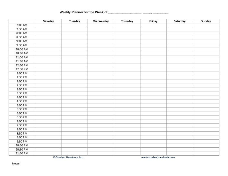 1 e weekly hourly-planner