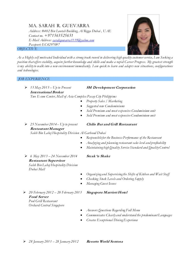 A Copy Of A Resume Cover Letter