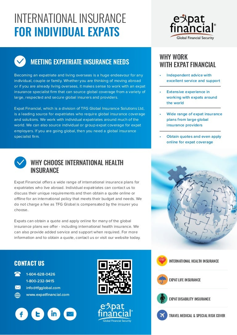 International Insurance For Individual Expats