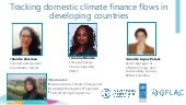 NAP-Ag Webinar - Tracking Domestic Climate Finance Flows