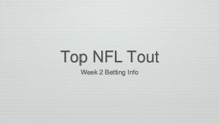 #1 football handicapper with nfl locks week 2