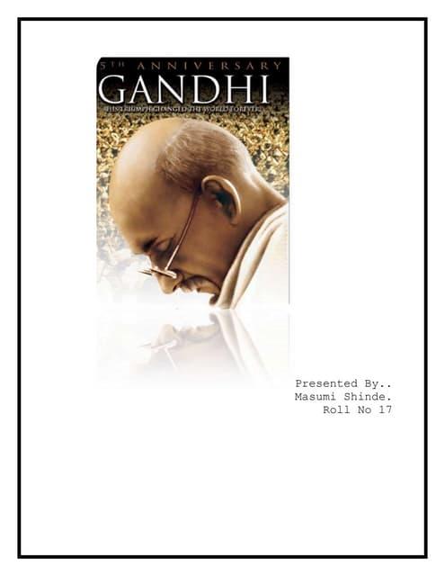 Movie review of Movie Gandhi