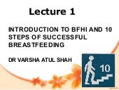 1 introduction to bfhi and 10 steps of breastfeeding