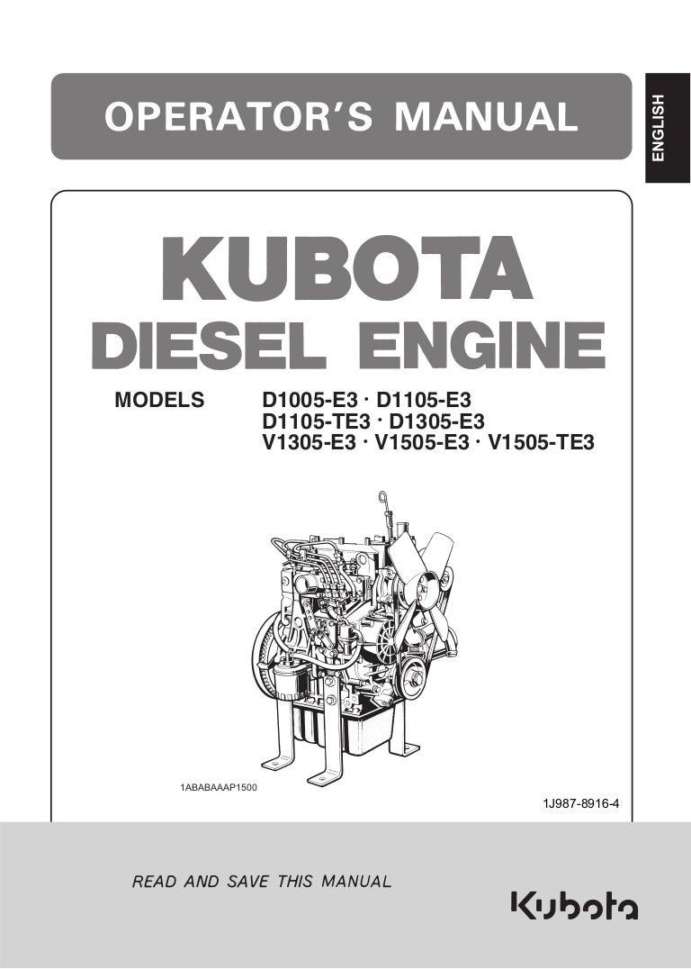 1 J987 89164eng Kubota D1105 Wiring Diagram