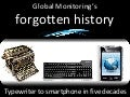 Global monitoring's forgotten history: typewriter to smartphone in five decades