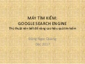 Thủ thuật tìm kiếm với /Tips for use with Google Search Engine