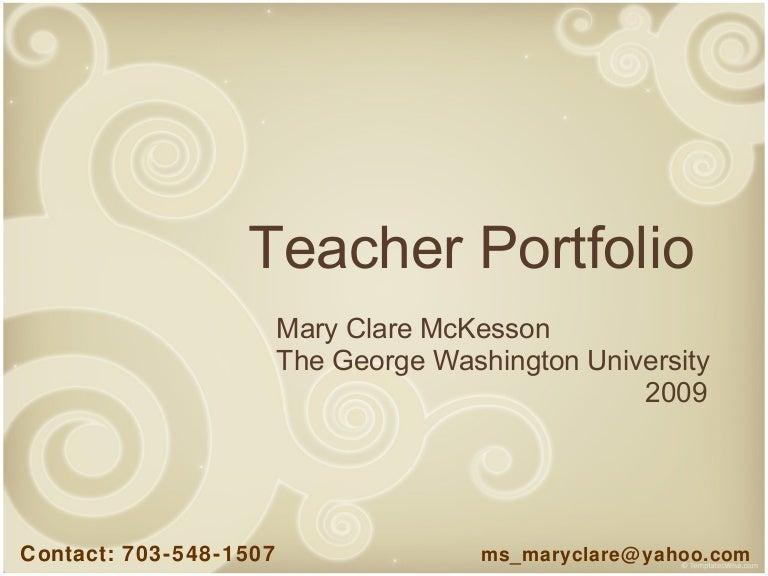 Mckesson Teacher Portfolio