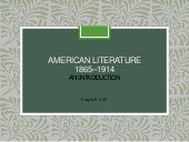 American Literature 1865-1914 Overview