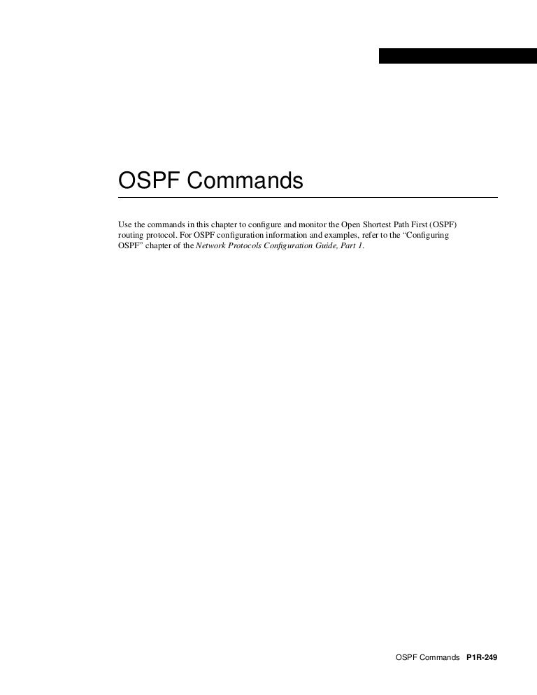 OSPF command