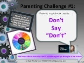 Parenting Challenge #1 from Think It Through Parenting