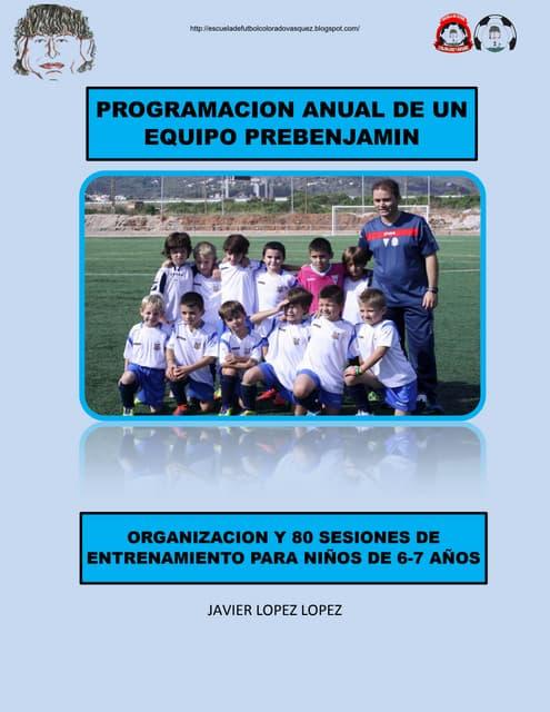 prebenjamines, programación anual entrenamientos