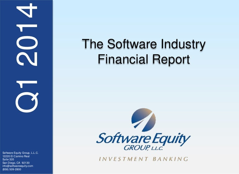 1q14 Software Industry Financial Report