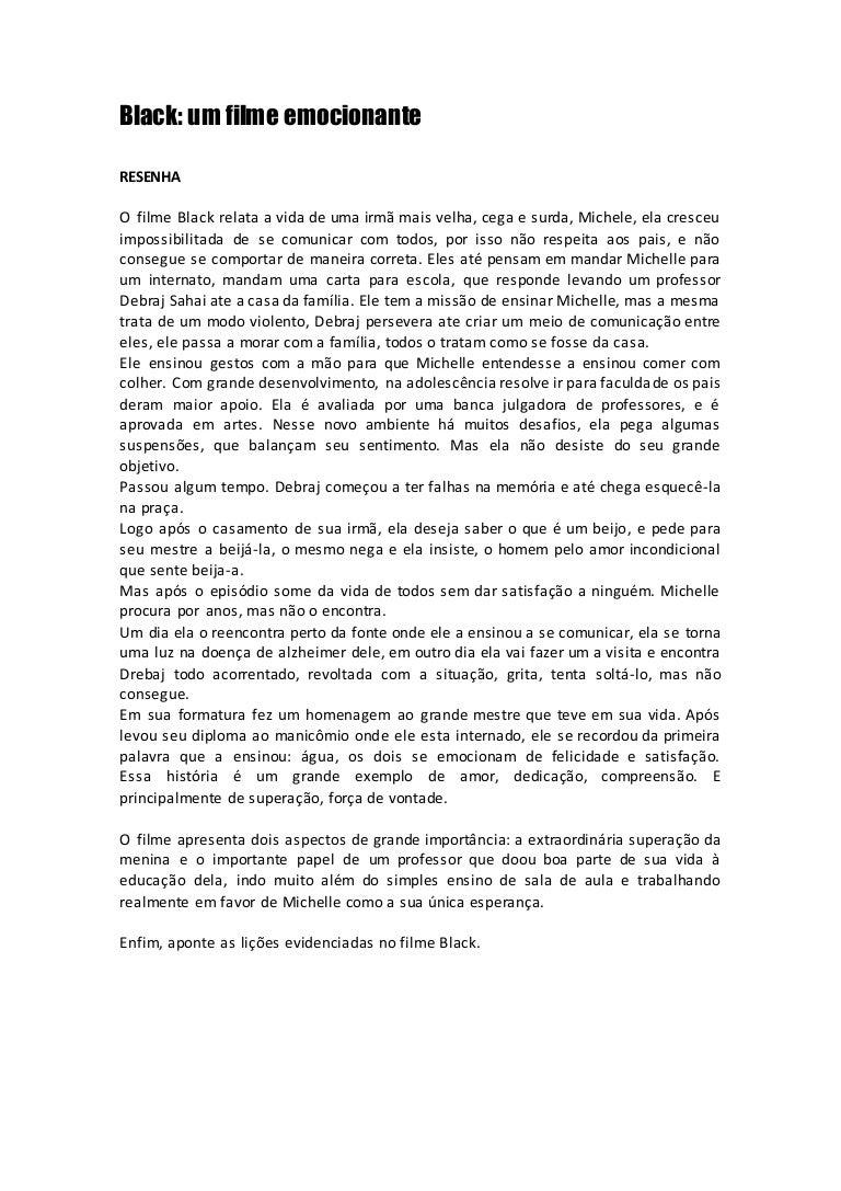 Filme Seu Nome É Jonas throughout 1 resenha filme black