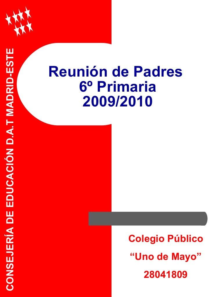 1ª Reunion Padres 6º 09 10