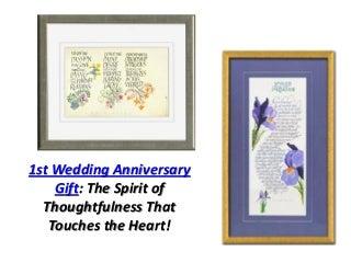 1st wedding anniversary gift