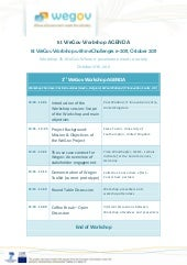 1st WeGov Workshop Agenda