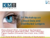1st workshop on linked data and distributed ledgers introduction v 1.0