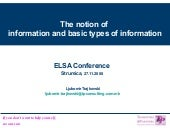 1 The Notion Information And Basic Types Of Information