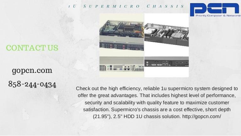 1 u supermicro chassis
