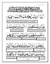 Quran by Word Meanings - Para 01