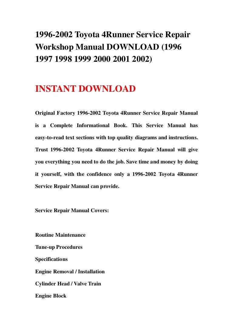 4runner Abs Manual Ebook Circuitlab Level Shifter 12v Gt 33v Array 1996 2002 Toyota Service Repair Workshop Download 199 U2026 Rh Slideshare