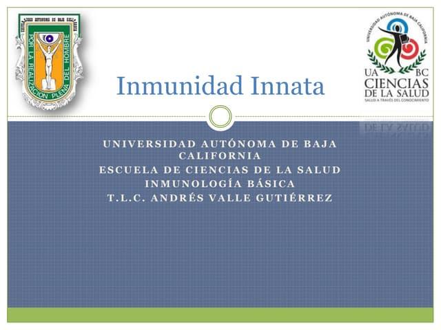 2.  Inmunidad Innata o Natural