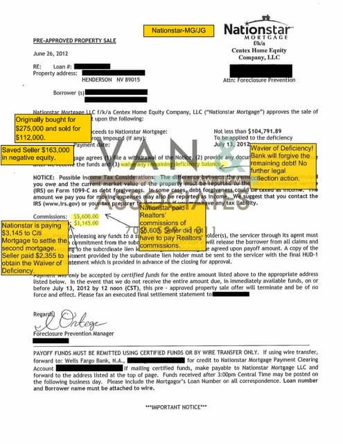 Nationstar Mortgage Short Sale Package Pdf