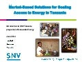Arusha | Jun-14 | Market-Based Solutions for Scaling Access to Energy in Tanzania