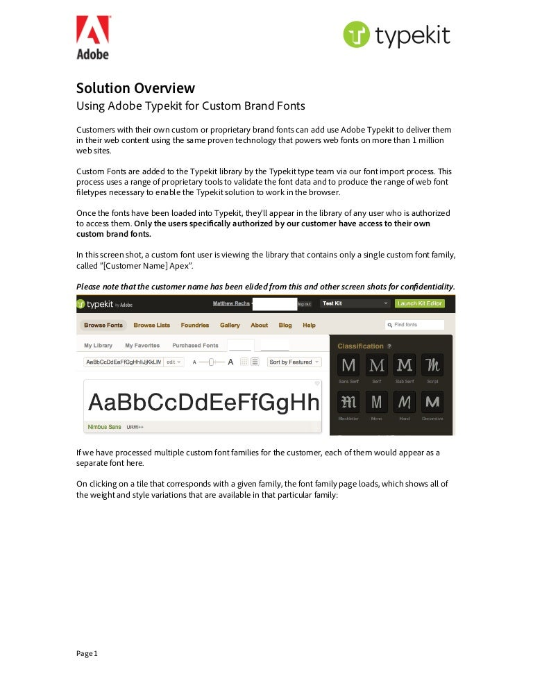 2  custom fonts via adobe typekit