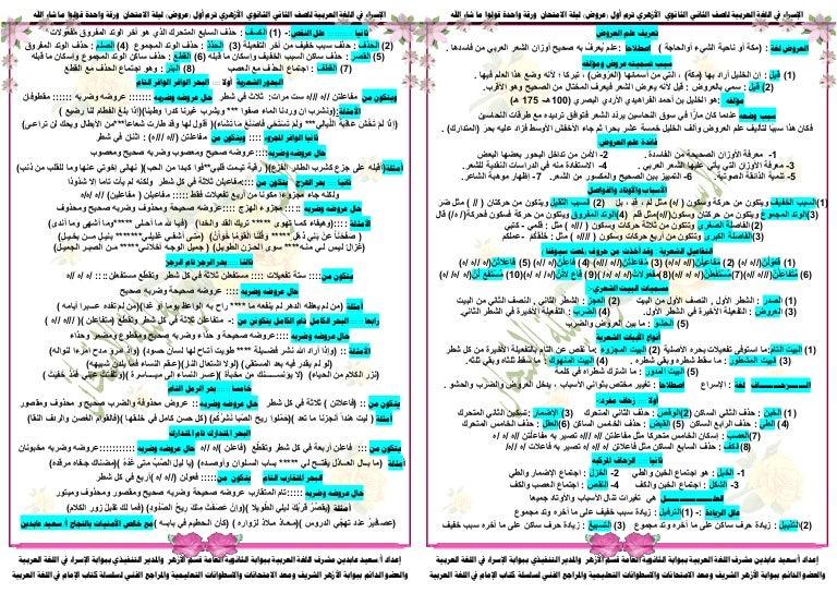 علم العروض والقافية pdf