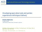 Developing open data tools and portals: experiences of impact delivery