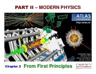 PART II.2 - Modern Physics