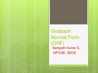 2.8 normal forms gnf & problems