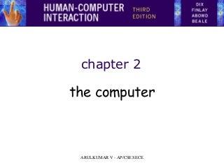 The computer HCI