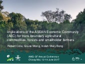Implications of the ASEAN Economic Community (AEC) for trans-boundary agricultural commodities, forests and smallholder farmers
